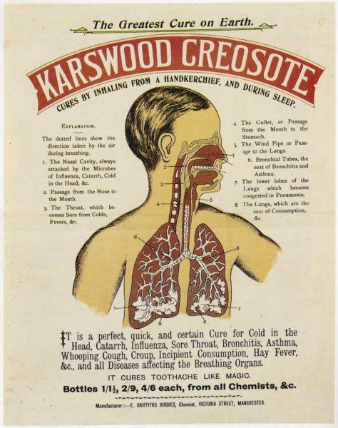 Karswood Creosote Tin Sign