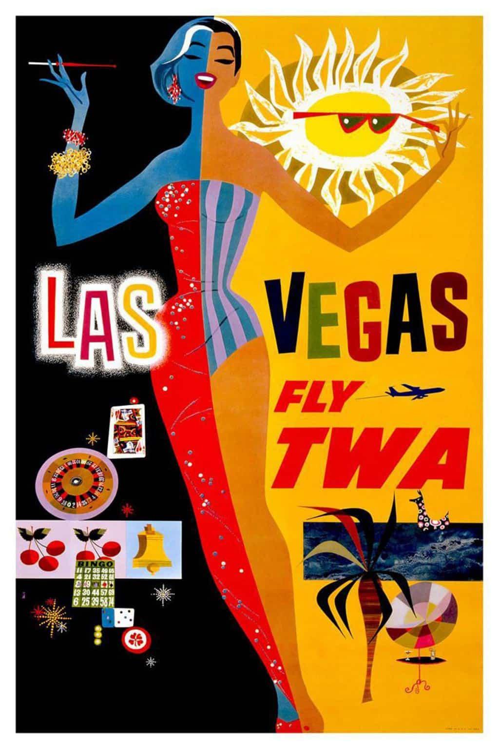 las vegas vintage poster jpg 1500x1000