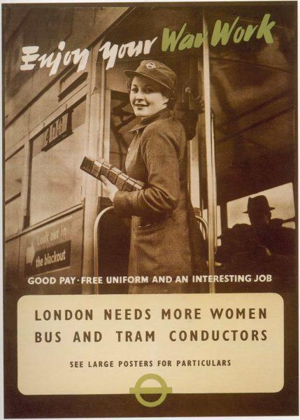 Vintage Job Opening Poster - Enjoy Your War Work