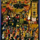 London Underground Vintage Poster, Molly Moss' Out and About in Winter London,1950