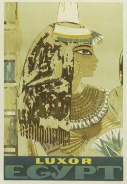 Vintage Travel Poster 'Luxor Egypt' circa 1950
