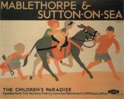 LNER Mablethorpe & Sutton on Sea Vintage Tourism Poster