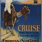 Canadian Pacific Mediterranean Cruise Vintage Travel Poster