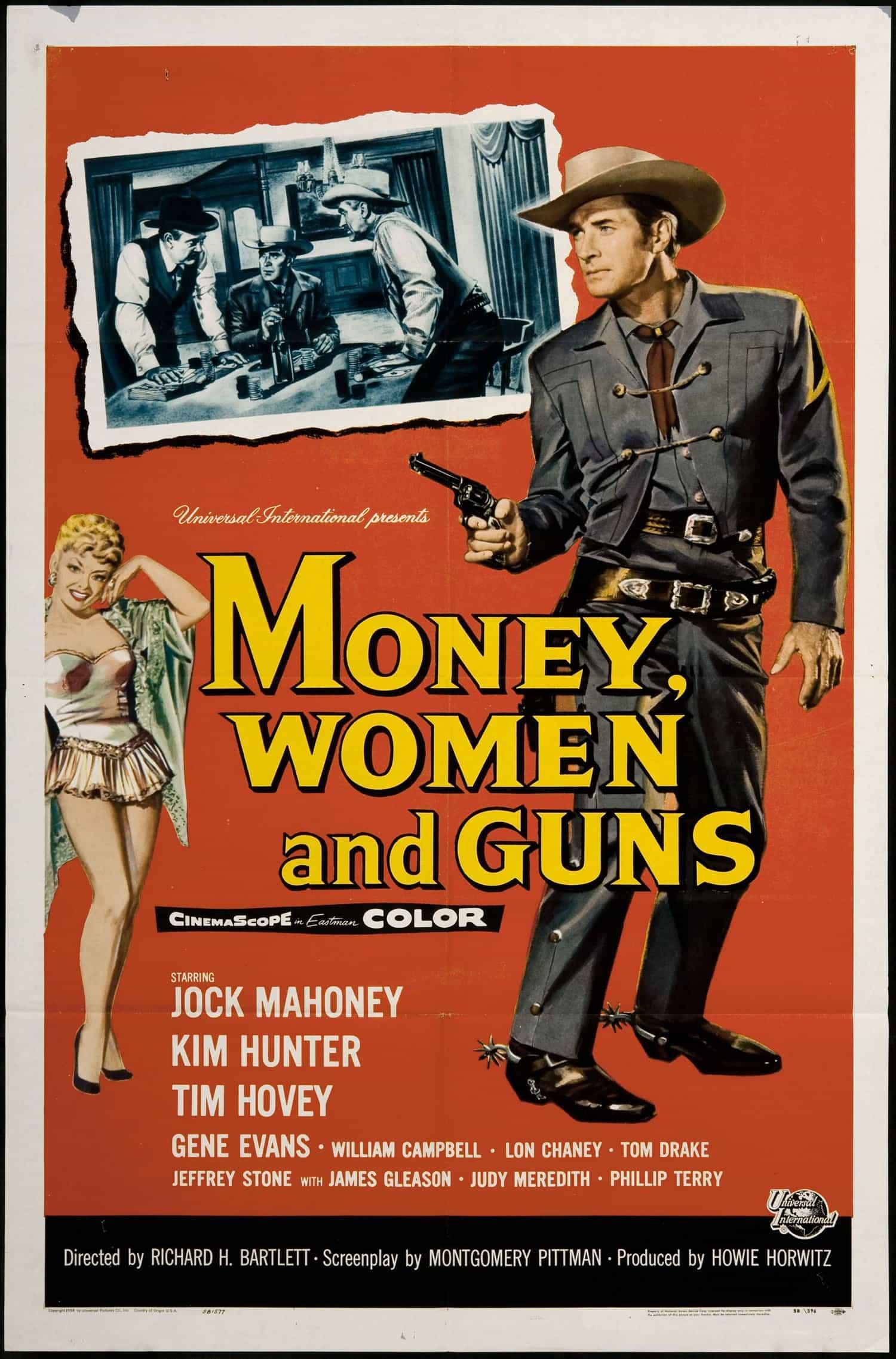 retro movie poster art money women and guns richard h