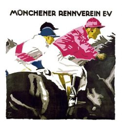 Munchener Renn Verein Horse Racing Vintage Tourism Poster