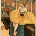 Nellie McHenry in A night at the Circus Theatrical Canvas Poster on Canvas c1893