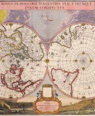 Novus-Planiglobii-Terrestris-Per-Utrumque-Polum-Conspectus-Valck-Blaeu-1695