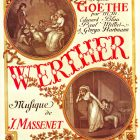 Vintage French Opera Poster Werther in 1893