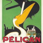 Pelican Cigarettes Vintage Ad Poster by Charles Yray