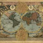 1720 Antique World Map