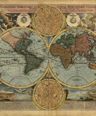 Planiglobii-Terrestris-Cum-Utroq-Hemisphaerio-Caelesti-Generalis-Johann-Homann-1720
