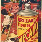 Polishing Brillant Liquide MECANO Vintage Advertising Poster