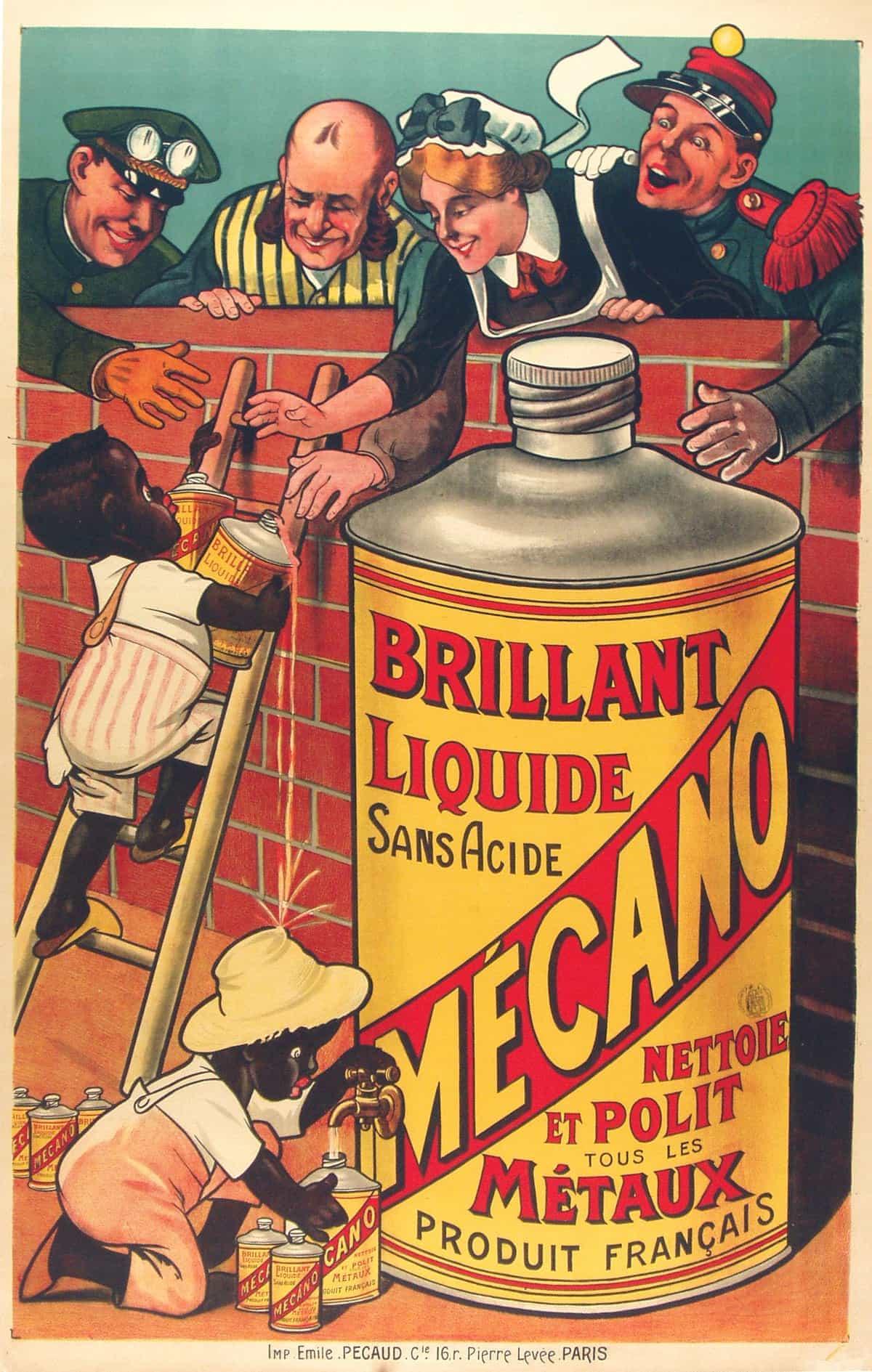 Polishing Brillant Liquide Mecano Vintage Advert Poster