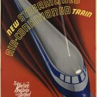 Presenting The Comet, Air-Conditioned Train New York Travel Poster,1935
