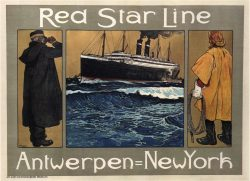 Red Star Line Vintage Shipping Poster