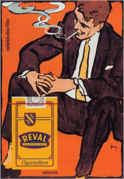Reval Naturrein Vintage Cigarette Advertising Poster by Gerd Grimm