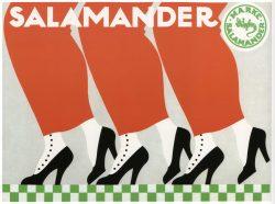 Vintage Art Deco Poster: Salamander Shoes, 1912