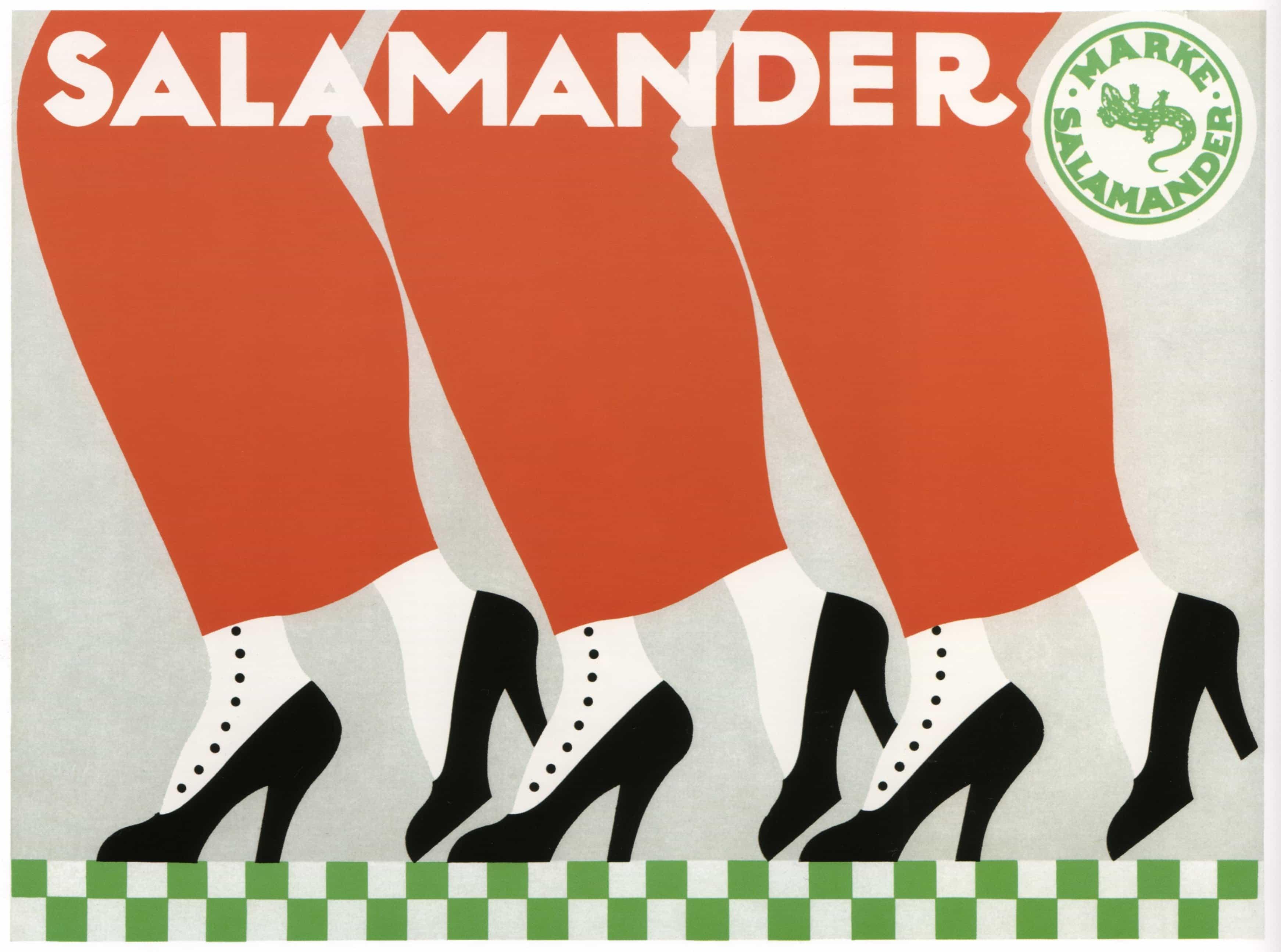 Art Deco Poster 1912 Design Salamander Shoes Dated SzMpLVGqU