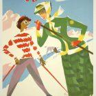Vintage Tourism Poster: St. Moritz. Schweiz, Suisse, Switzerland