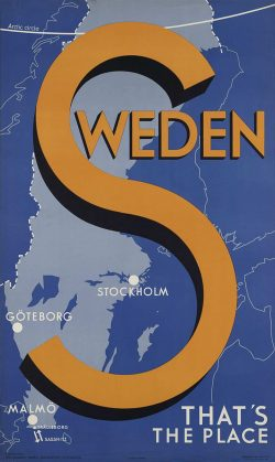 Vintage Travel Poster: Sweden That's the Place