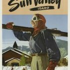 Vintage Tourism Poster: Sun Valley, Idaho Winter Sports Under A Summer Sun