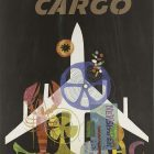 'TWA – Air Cargo' Retro Airlines Poster by David Klein, 1965