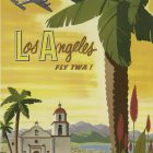 Los Angeles Fly TWA Vintage Travel Poster by David Klein