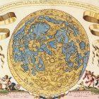 Ancient Map: Tabula Selenographica Hemifphaerio dated 1696