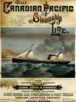 Vintage Shipping Poster: Canadian Pacific Steamship Line