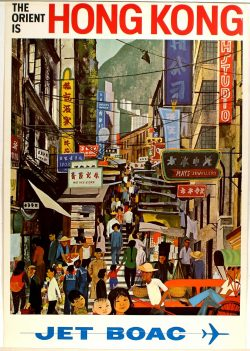Jet Boac Vintage Travel Poster – The Orient is Hongkong