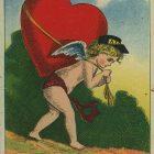 Vintage Valentine Postcard – This Messenger Bears my Heart to My Valentine