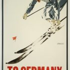 To Germany for Winter Sports Vintage Ski Poster