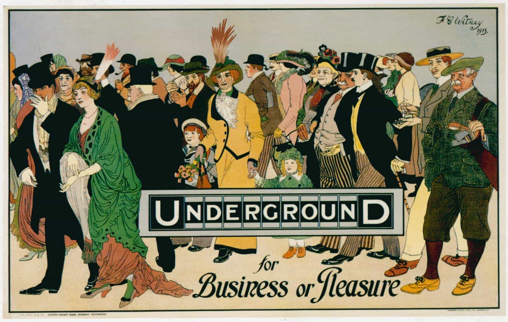 FE Witney's 'Underground for Business or Pleasure' London ...