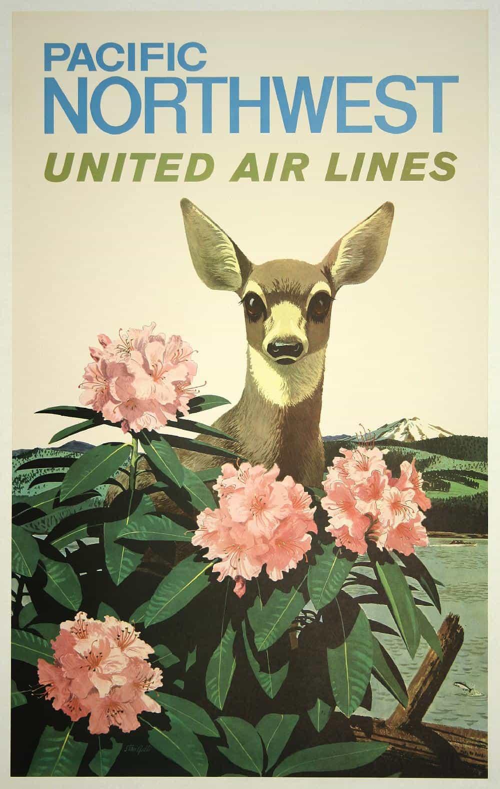 Pacific Northwest Vintage Travel Poster - Los angeles posters vintage