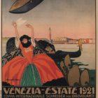 Venezia Estate Vintage Poster, Bonazzi Tigiv 1921