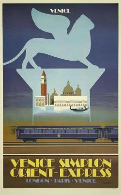Railway Poster Venice Orient Express by Pierre Fix-Masseau, 1883