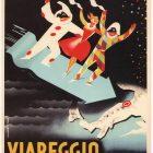 Viareggio Carnevale Retro Travel Poster, 1950