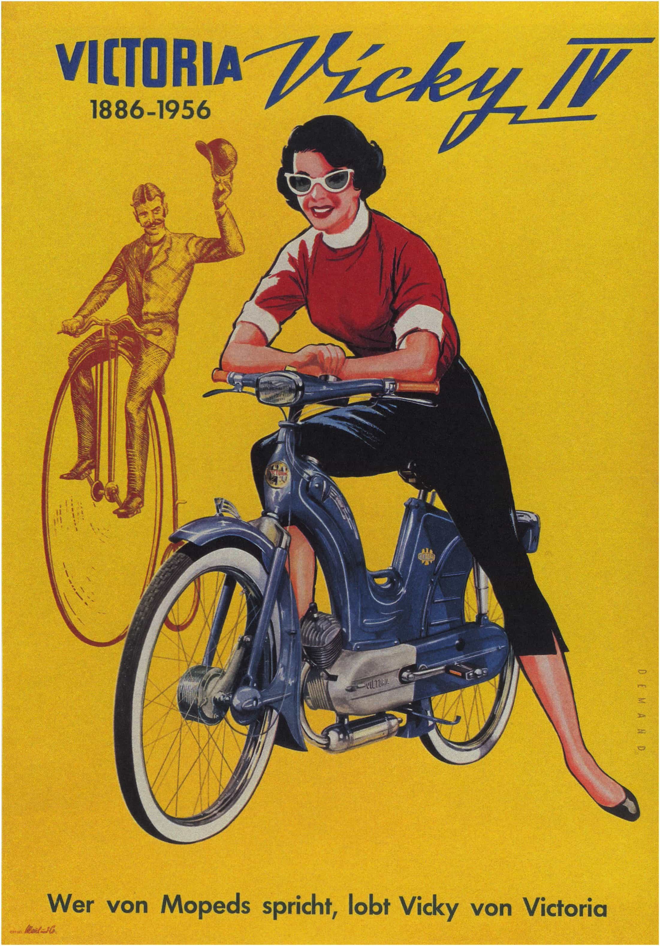 Vintage Motorcycle Poster Victoria Vicky IV 1956