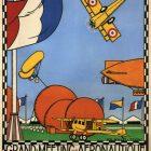 Vintage Exhibition Poster Grand Meeting Aeronautique, 1920