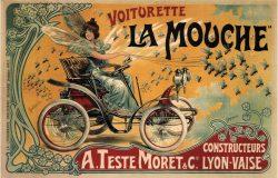 Vintage Auto Poster by Francisco Tamagno