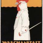 Vintage Advertising Poster: Waschanstalt Zürich by Robert Hardmeyer