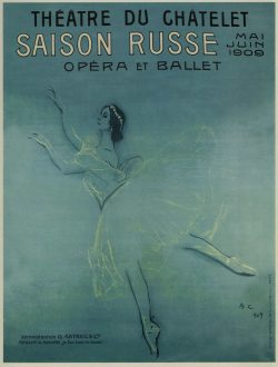 Ballerina Anna Pavlova's Tour of France Poster, 1909