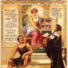 Los Seguros Obreros Privados Vintage Poster, 1900