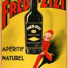 Fred Zizi Aperitif Wine Vintage Advertising Poster, 1932