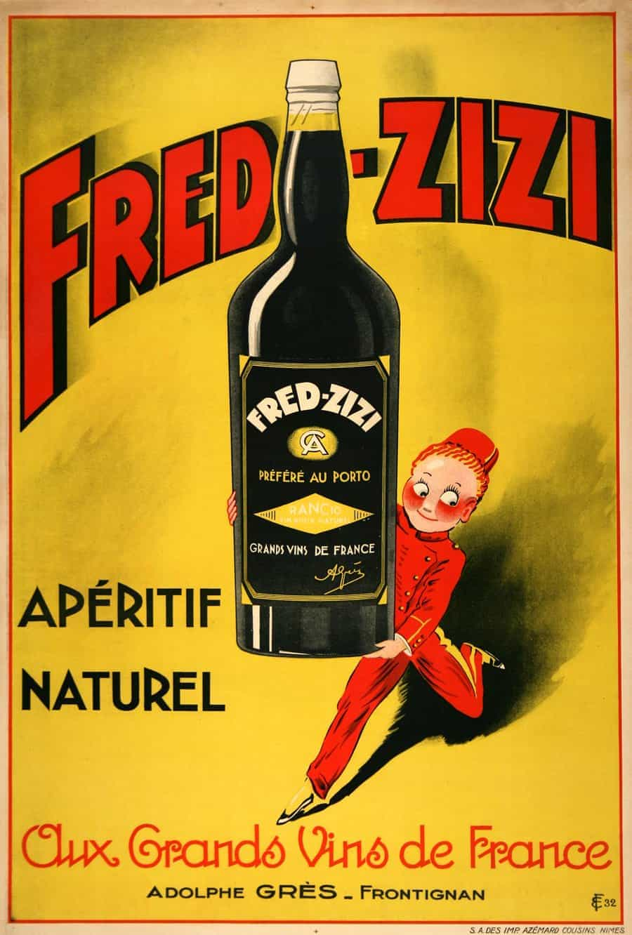 The Casket Fred Ziz Aperitif Wine French Vintage Posters 1932