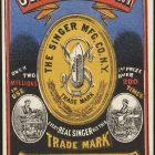 Vintage Advertising Poster – Genuine Singer Sewing Machines, 1885