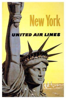 Vintage Posters: United Air Lines New York