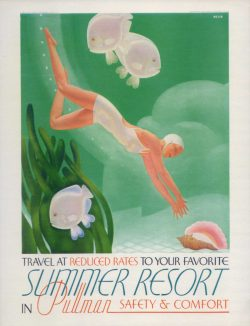 Summer Resort in Pullman Vintage Travel Poster
