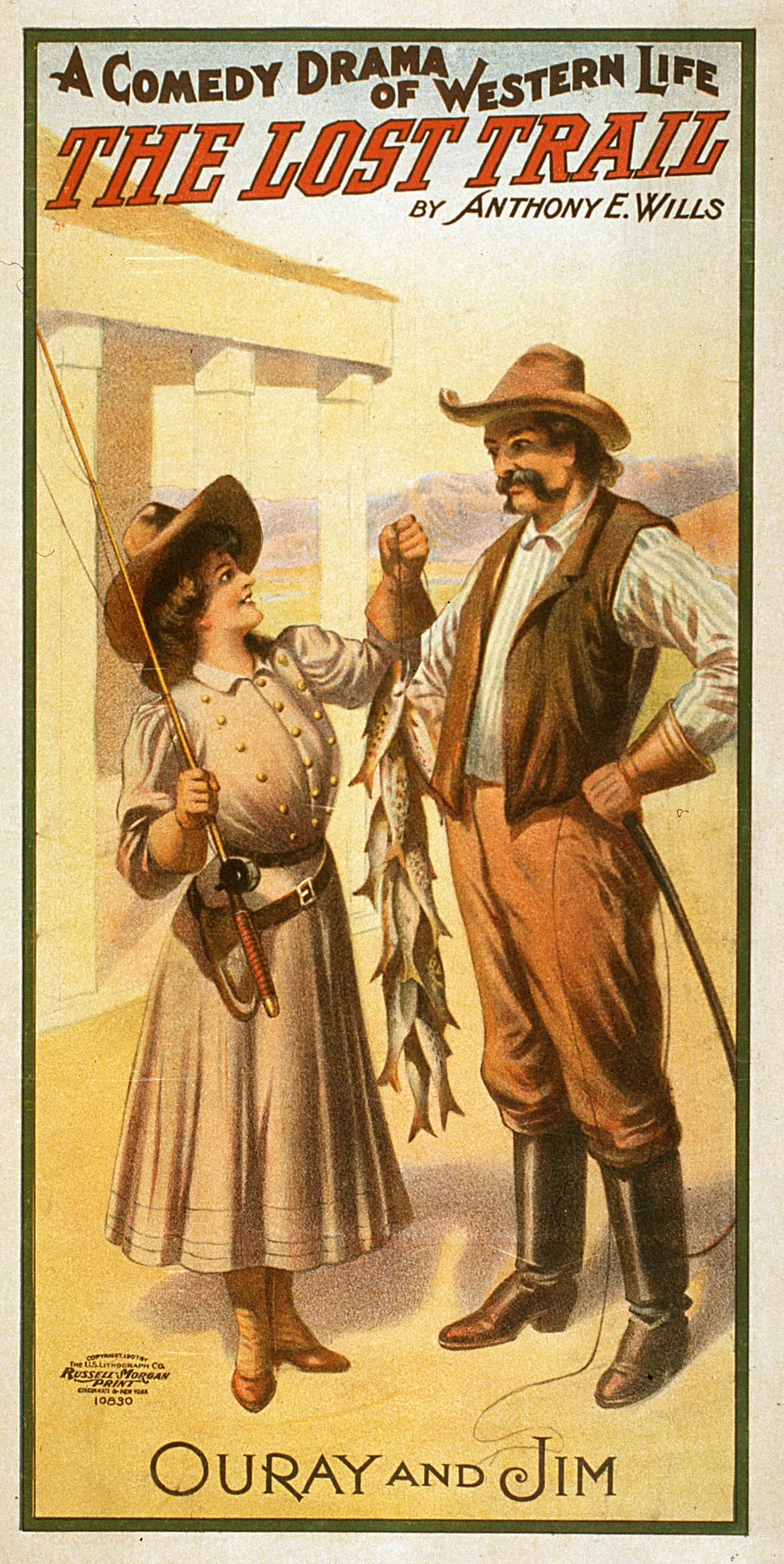 Old Theatre Posters The Lost Trail A Comedy Drama 1907