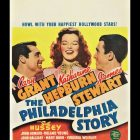 "1940 Original Movie Poster for the Comedy Film ""The Philadelphia Story """